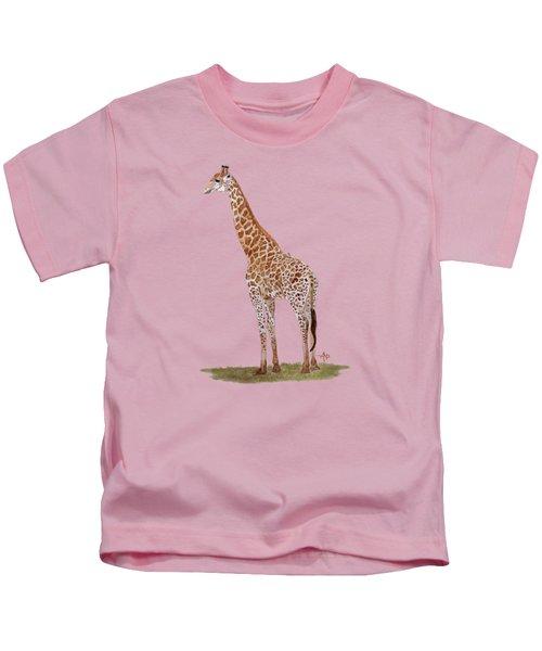 Giraffe Kids T-Shirt by Angeles M Pomata
