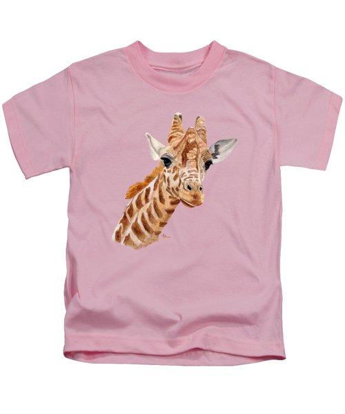 Giraffe Portrait Kids T-Shirt
