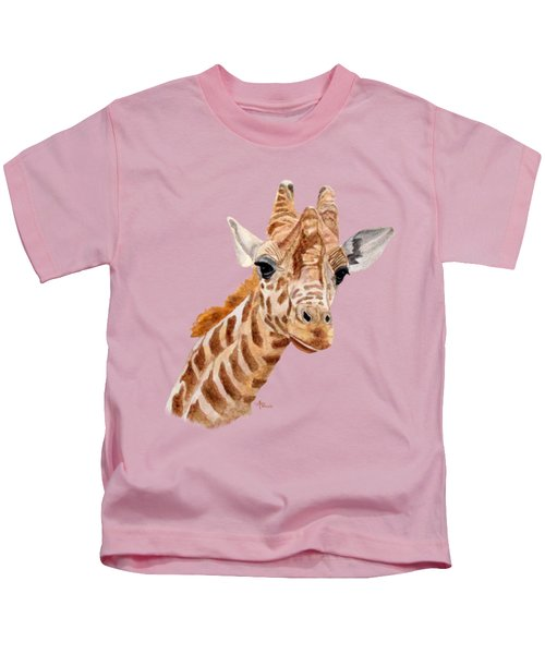 Giraffe Portrait Kids T-Shirt