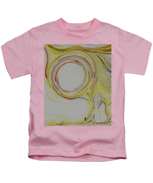 Girl And Universe Creative Connection Kids T-Shirt