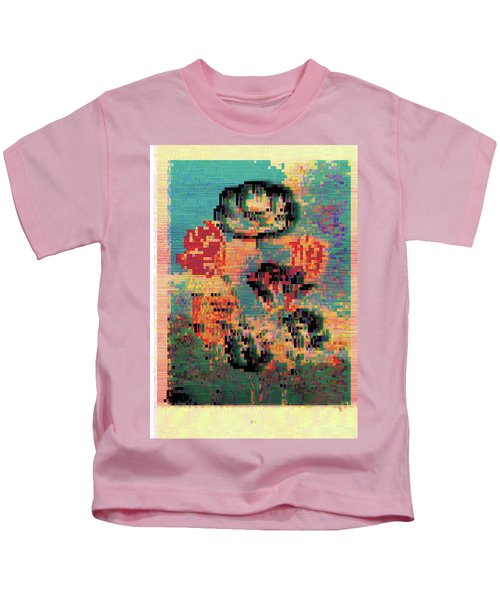 Glitched Tulips Kids T-Shirt