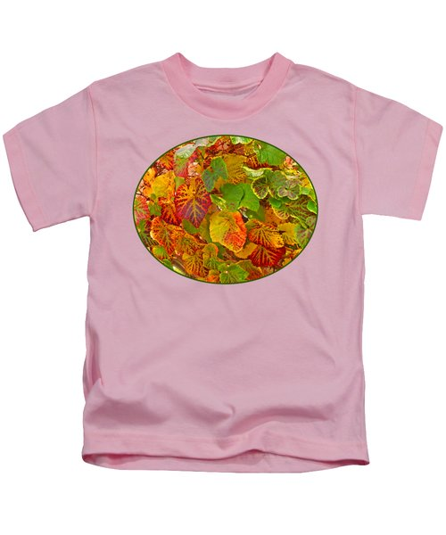 Glorious Autumn Leaves Kids T-Shirt