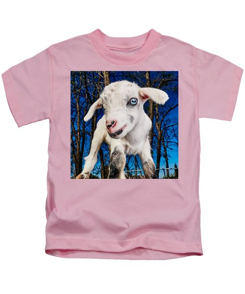 Goat High Fashion Runway Kids T-Shirt