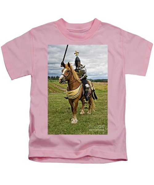 Gold And Silver Knight Kids T-Shirt