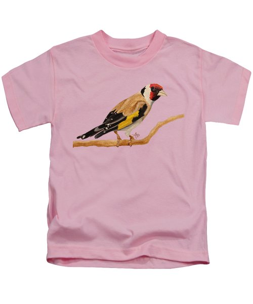 Goldfinch Kids T-Shirt by Angeles M Pomata