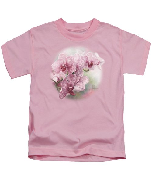 Graceful Orchids Kids T-Shirt by Lucie Bilodeau