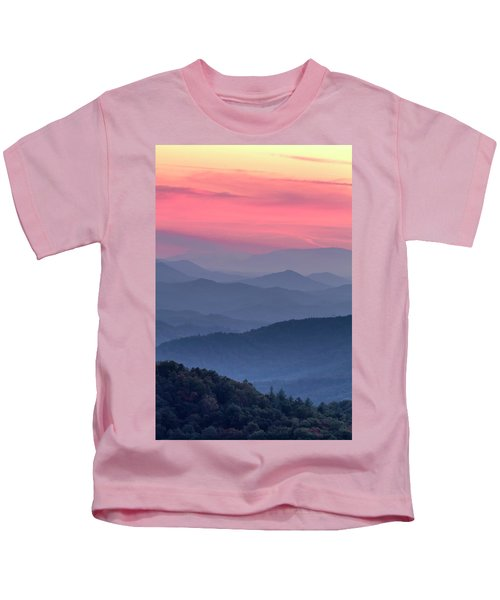Great Smoky Mountain Sunset Kids T-Shirt