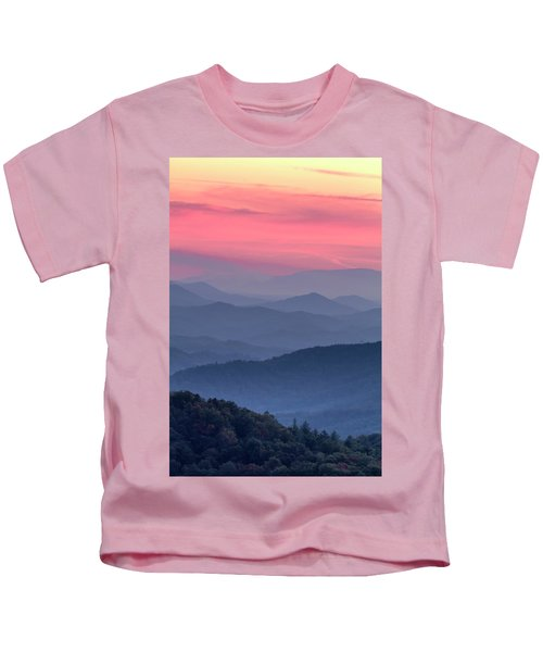 Great Smoky Mountain Sunset Kids T-Shirt