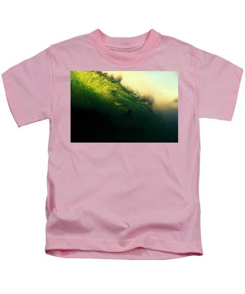 Green And Black Kids T-Shirt