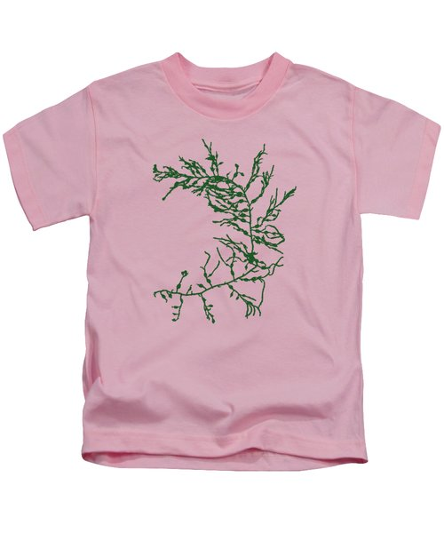 Green Seaweed Art Cystoseira Fibrosa Kids T-Shirt