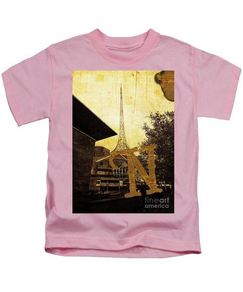Grungy Melbourne Australia Alphabet Series Letter N National Gal Kids T-Shirt