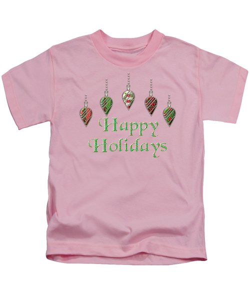 Happy Holidays Merry Christmas Kids T-Shirt