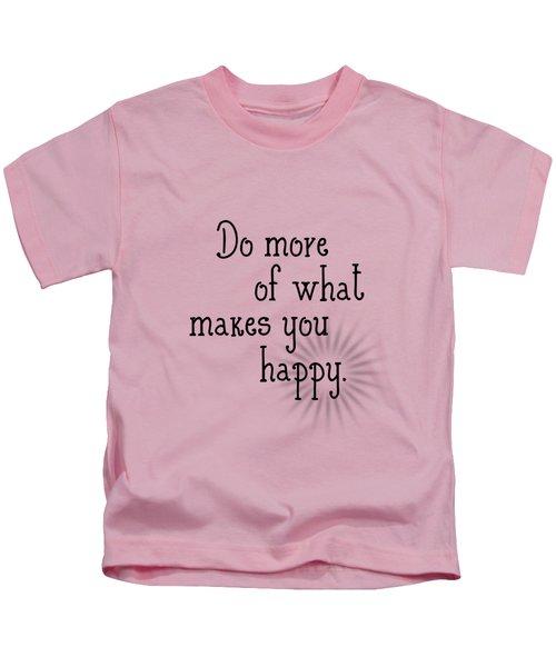 Text Art Happy Kids T-Shirt