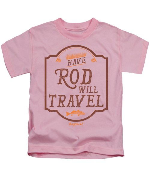 Have Rod Will Travel Backcountry Kids T-Shirt