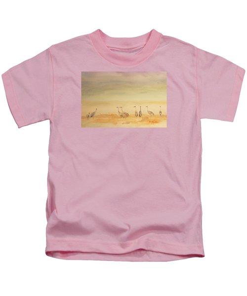 Hazy Days Cranes Kids T-Shirt