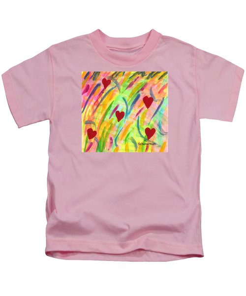 heARTs of Spring Kids T-Shirt