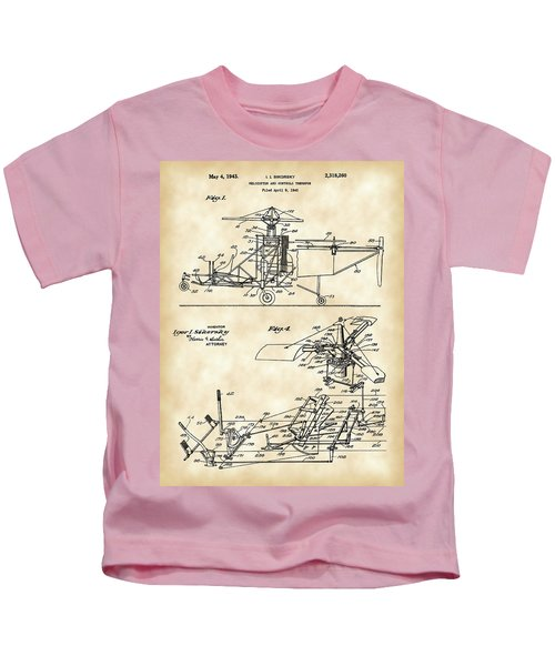 Helicopter Patent 1940 - Vintage Kids T-Shirt