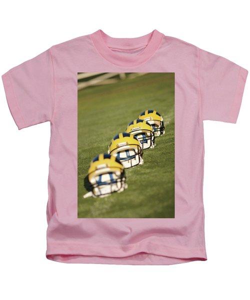 Helmets On Yard Line Kids T-Shirt