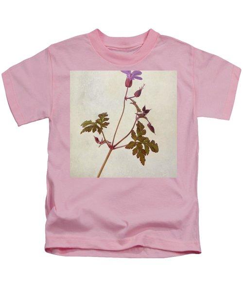 Herb Robert - Wild Geranium  #flower Kids T-Shirt