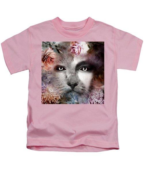 Hiding Catlady Kids T-Shirt