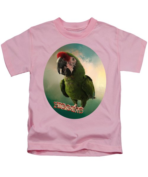 Higgins Kids T-Shirt by Zazu's House Parrot Sanctuary