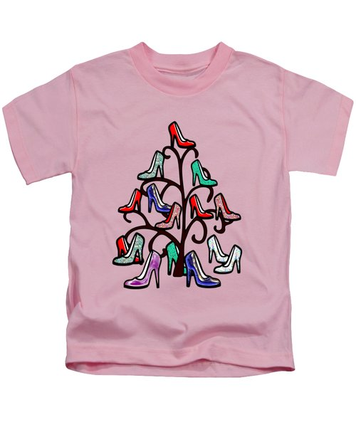 High Heels Tree Kids T-Shirt by Anastasiya Malakhova