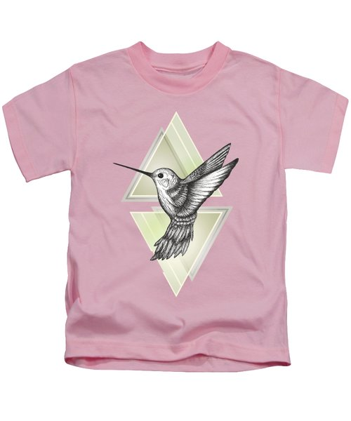 Hummingbird Kids T-Shirt by Barlena