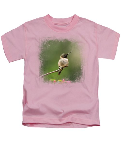 Hummingbird In The Garden Kids T-Shirt