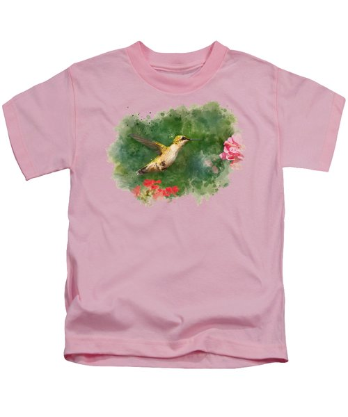 Hummingbird - Watercolor Art Kids T-Shirt