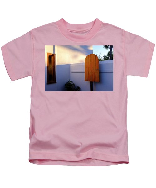 Ice Cream Shop Wooden Popsicle In Saint Augustine Florida Kids T-Shirt