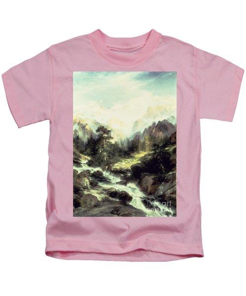 In The Teton Range Kids T-Shirt
