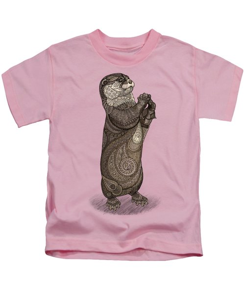 Infatuated Otter Kids T-Shirt by ZH Field