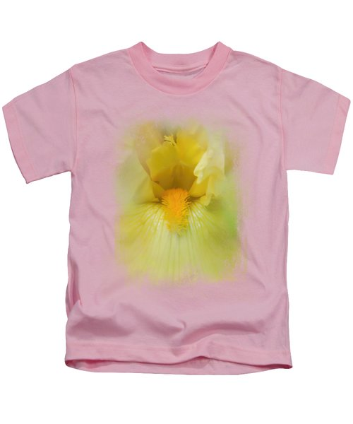 Iris In Lime Kids T-Shirt by Jai Johnson