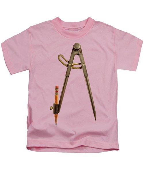 Iron Compass Back Split Color Paper Kids T-Shirt