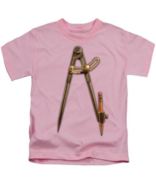 Iron Compass Pattern Kids T-Shirt