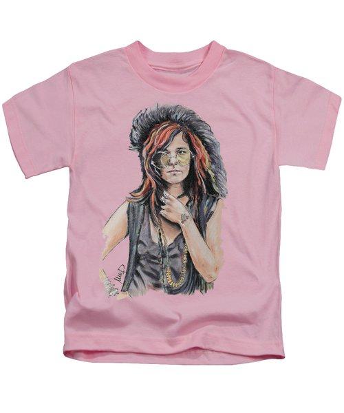Janis Joplin Kids T-Shirt by Melanie D