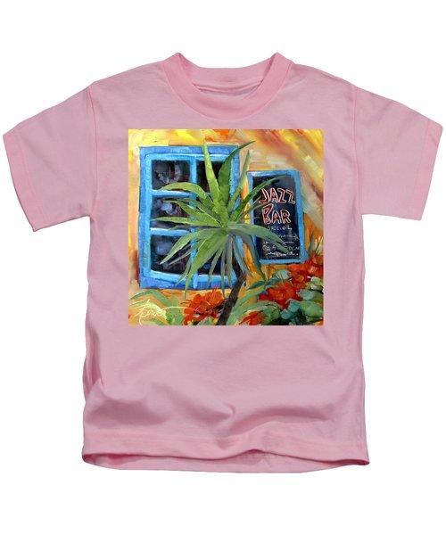 Jazz Bar In Santorini Kids T-Shirt