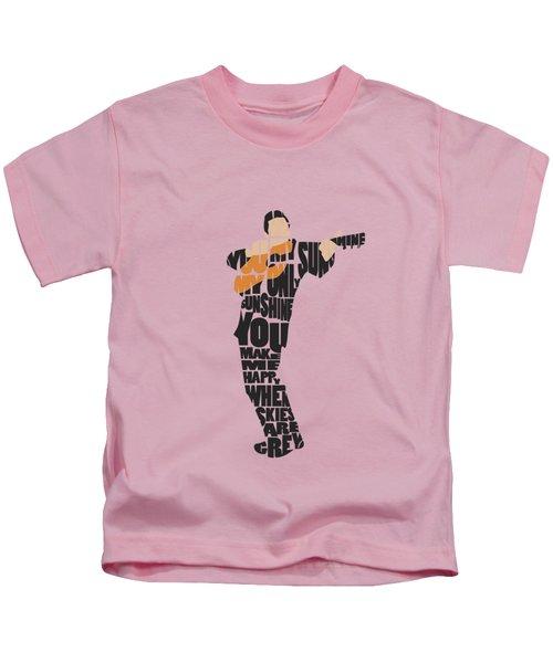 Johnny Cash Typography Art Kids T-Shirt