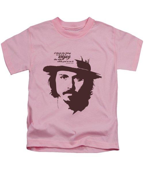 Johnny Depp Minimalist Poster Kids T-Shirt