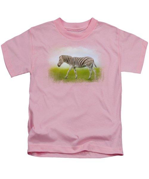 Journey Of The Zebra Kids T-Shirt by Jai Johnson