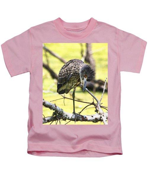 Juvenile Black Crowned Night Heron Kids T-Shirt