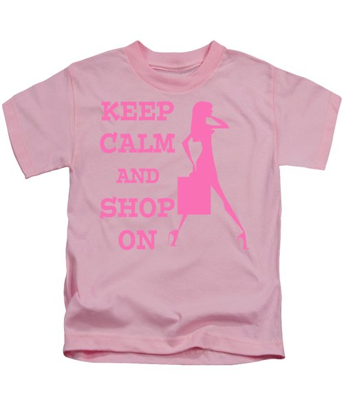 Keep Calm And Shop On Kids T-Shirt