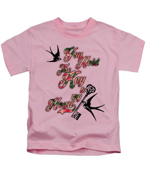 Key To My Heart Dictionary Art Kids T-Shirt