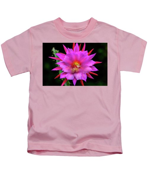Kimnach's Pink Orchid Cactus Kids T-Shirt