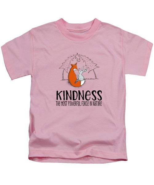 Kindness Fox And Bunny Kids T-Shirt