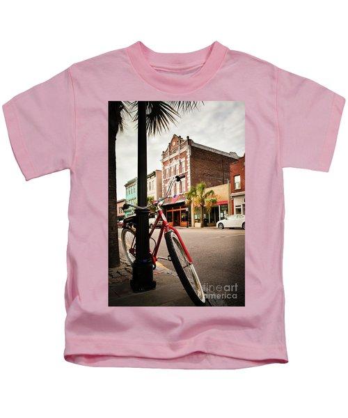 King Street Charleston Sc  -7436 Kids T-Shirt