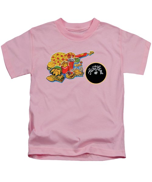 Kitchen Illustration Of Menu Of Fast Food  Kids T-Shirt