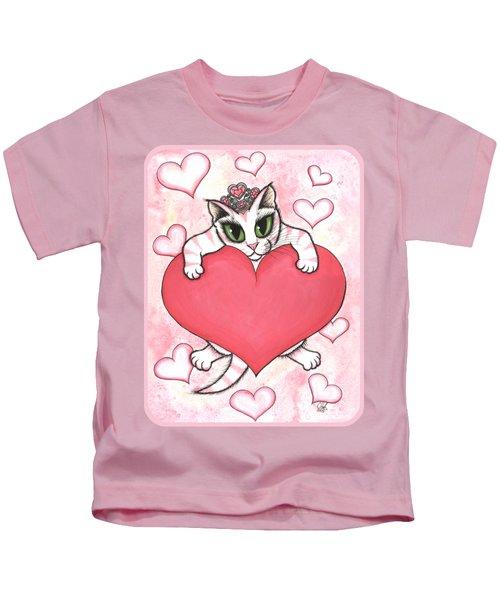 Kitten With Heart Kids T-Shirt