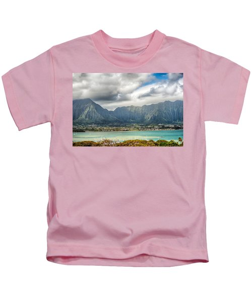 Ko'olau And H-3 In Color Kids T-Shirt
