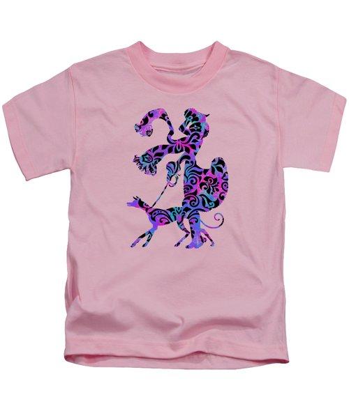 Lady Dog Walker Overlay Transparent Background Kids T-Shirt